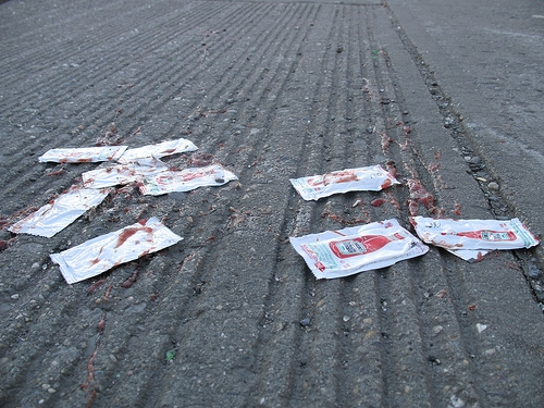 flattened ketchup packets 4